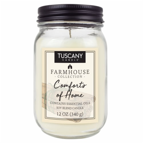 Tuscany Candle Farmhouse Collection Comforts of Home Scented Jar Candle Perspective: front