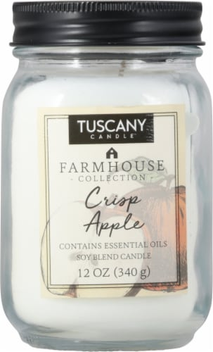 Tuscany Candle Farmhouse Collection Crisp Apple Scented Jar Candle Perspective: front