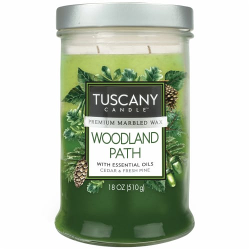 Tuscany Candle Woodland Path Scented Triple Pour Jar Candle Perspective: front