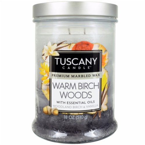 Tuscany Candle Warm Birch Woods Scented Triple Pour Jar Candle Perspective: front