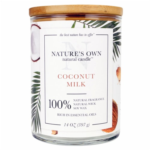 Nature's Own Coconut Milk Soy Wax Natural Candle Perspective: front