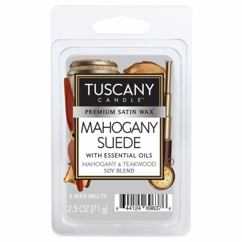 Tuscany Candle Mahogany Suede Wax Melts Perspective: front