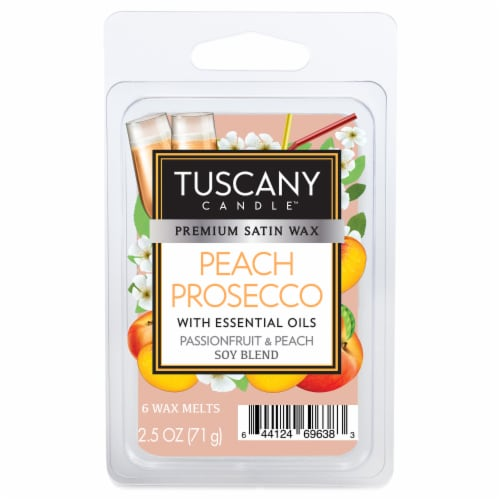 Tuscany Candle Peach Prosecco Wax Melts Perspective: front