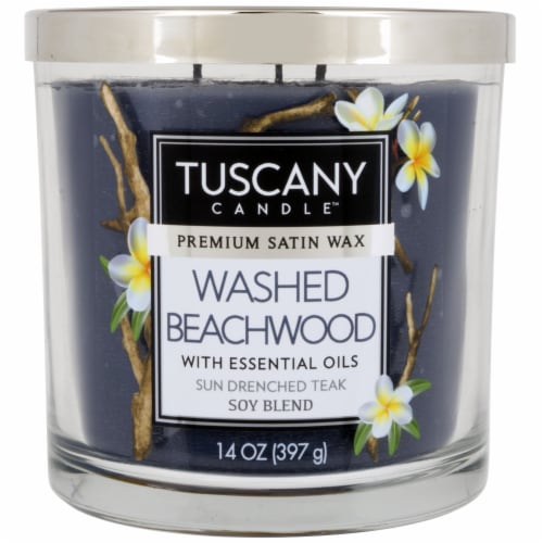 Tuscany Candle Washed Beachwood Scented Jar Candle Perspective: front