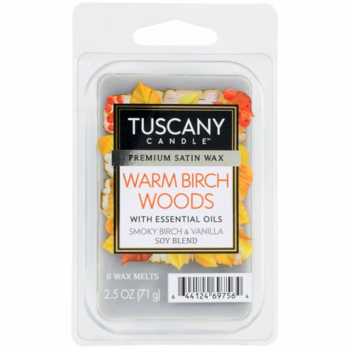 Tuscany Candle Warm Birch Woods Wax Melts Perspective: front