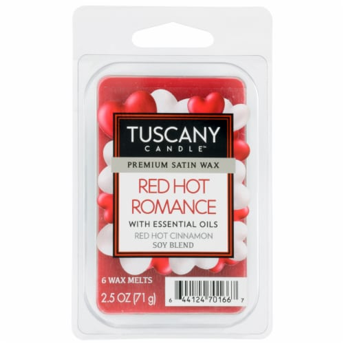 Tuscany Candle Red Hot Romance Soy Blend Wax Melts Perspective: front