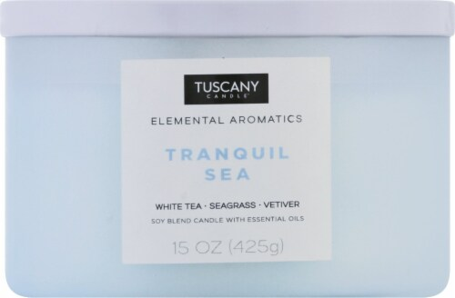 Tuscany Candle Elemental Aromatics Tranquil Sea Scented Jar Candle Perspective: front