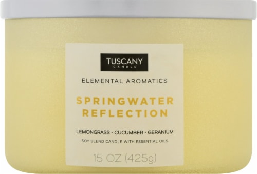 Tuscany Candle Elemental Aromatics Springwater Reflection Scented Jar Candle Perspective: front