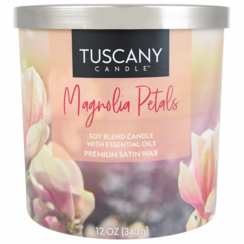 Tuscany Magnolia Petals Scented Candle Perspective: front