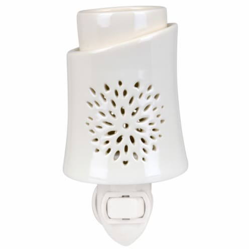 Tuscany Candle Blooming Floral Outlet Warmer - White Perspective: front