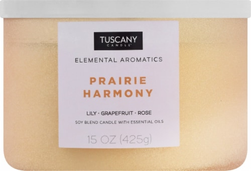 Tuscany Candle Elemental Aromatics Prairie Harmony Scented Jar Candle Perspective: front