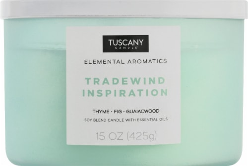 Tuscany Candle Elemental Aromatics Tradewind Inspiration Scented Jar Candle Perspective: front