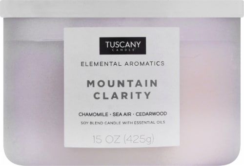 Tuscany Candle Elemental Aromatics Mountain Clarity Scented Jar Candle Perspective: front