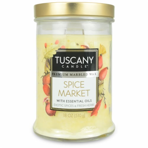 Tuscany Limited Edition Spice Market Jar Candle Perspective: front