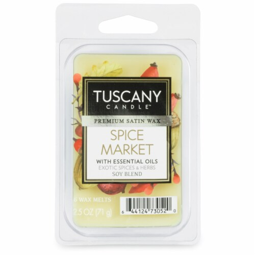Tuscany Limited Edition Spice Market Wax Melt Perspective: front