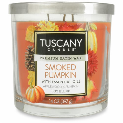 Tuscany Candle Limited Edition Smoked Pumpkin Scented Jar Candle Perspective: front