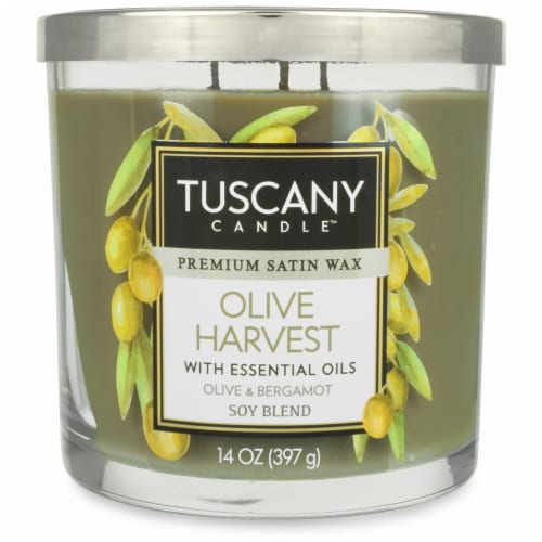 Tuscany Candle Limited Edition Olive Harvest Jar Candle - Green Perspective: front