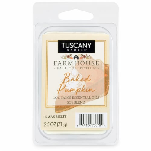 Tuscany Limited Edition Scented Wax Cubes - Baked Pumpkin - 6 pk Perspective: front