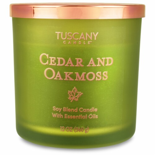 Tuscany Candle Cedar & Oakmoss Jar Candle - Green Perspective: front