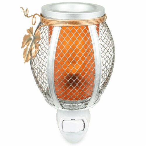 Tuscany Mesh Pumpkin Outlet Wax Warmer Perspective: front