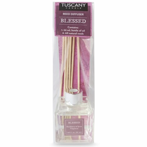 Tuscany Candle Blackberry & Spice Fragrance Reed Diffuser - Blessed Perspective: front