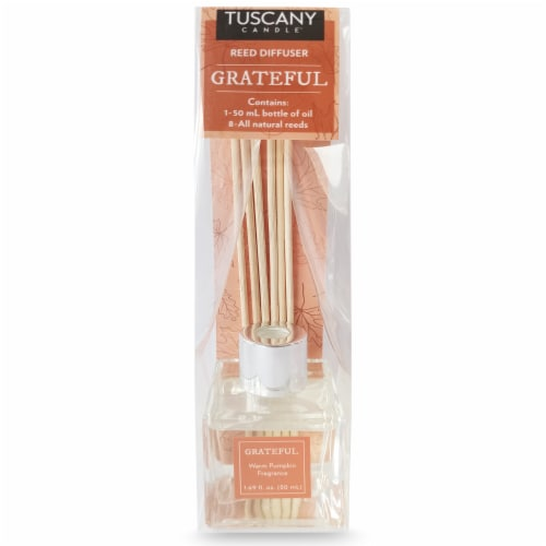 Tuscany Candle Grateful Warm Pumpkin Fragranced Reed Diffuser Perspective: front