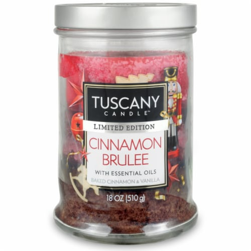 Tuscany Limited Edition Cinnamon Brulee Jar Candle Perspective: front