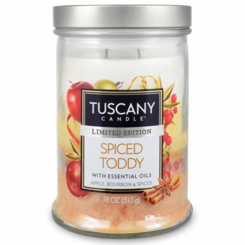 Tuscany Limited Edition Spiced Toddy Triple Pour Jar Candle Perspective: front