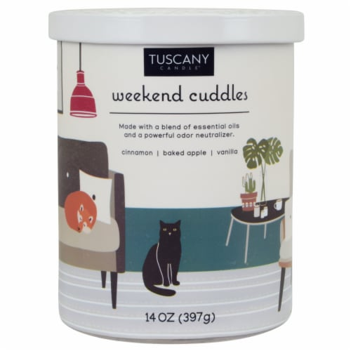 Tuscany Weekend Cuddles Pet Candle Perspective: front