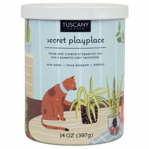 Tuscany Secret Playplace Pet Candle Perspective: front