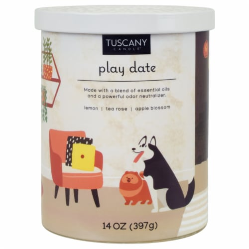 Tuscany Candle™ Play Date Candle Perspective: front