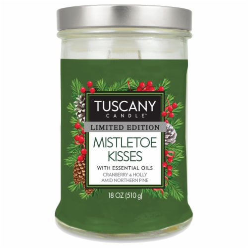 Tuscany Limited Edition Mistletoe Kisses Scented Jar Candle Perspective: front