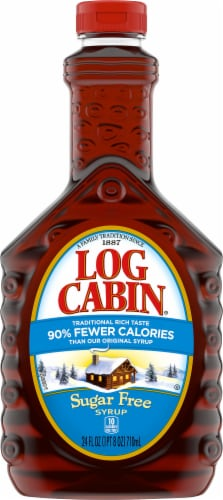 Log Cabin Sugar Free Syrup Perspective: front
