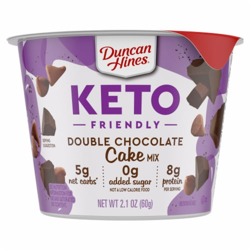 Duncan Hines Keto Friendly Double Chocolate Cake Cup Mix Perspective: front