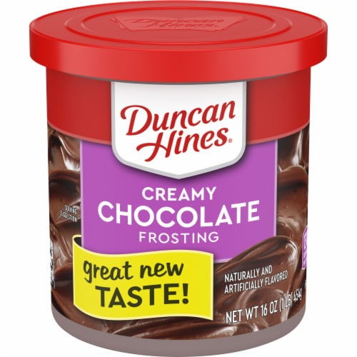 Duncan Hines Creamy Chocolate Frosting Perspective: front