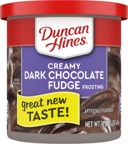Duncan Hines Creamy Dark Chocolate Fudge Frosting Perspective: front