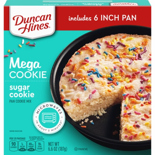 Duncan Hines Mega Cookie Sugar Cookie Perspective: front