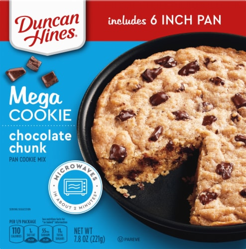 Duncan Hines Mega Cookie Chocolate Chunk Pan Cookie Mix Perspective: front