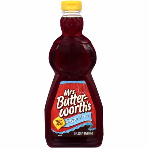 Mrs. Butterworth's Thick-n-Rich Sugar Free Syrup Perspective: front