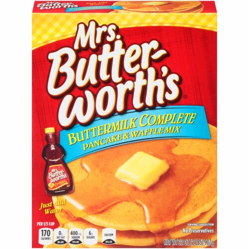 Mrs. Butterworth's Buttermilk Complete Pancake and Waffle Mix Perspective: front