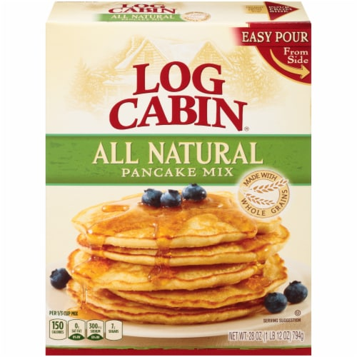 Log Cabin All Natural Pancake Mix Perspective: front
