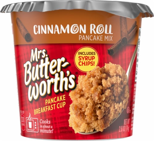 Mrs. Butterworth's Cinnamon Roll Pancake Breakfast Cup Perspective: front