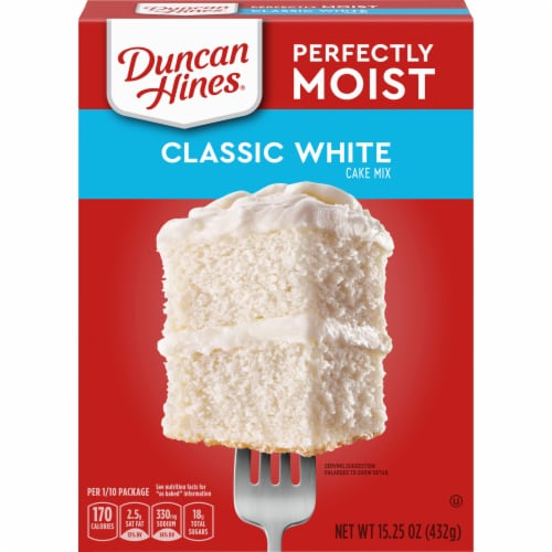 Duncan Hines Perfectly Moist Classic White Cake Mix Perspective: front