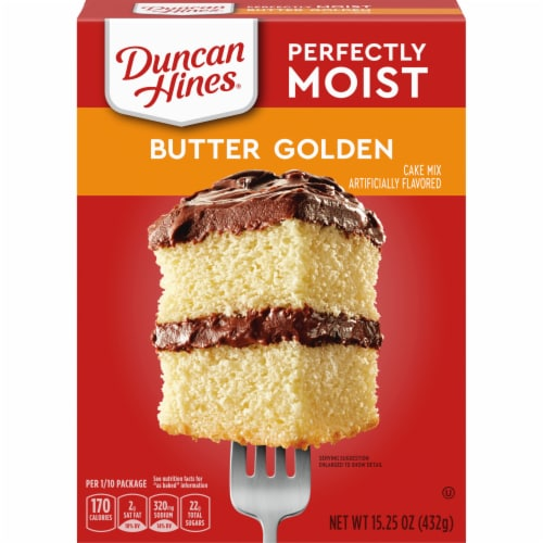 Duncan Hines Classic Butter Golden Cake Mix Perspective: front