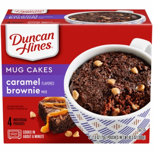 Duncan Hines Mug Cakes Caramel Brownie Mix Perspective: front