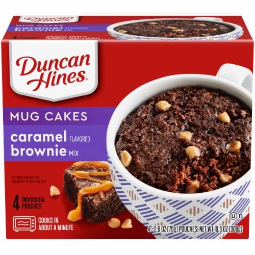 Duncan Hines Mug Cakes Caramel Brownie Mix Perspective: front