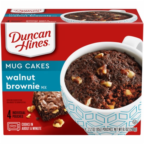 Duncan Hines Mug Cakes Walnut Brownie Mix Perspective: front
