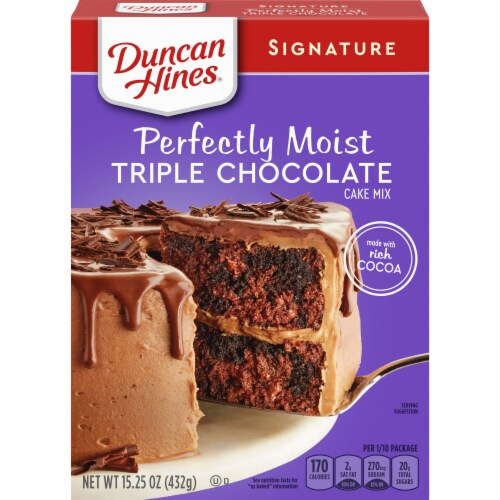 Duncan Hines Signature Triple Chocolate Cake Mix Perspective: front