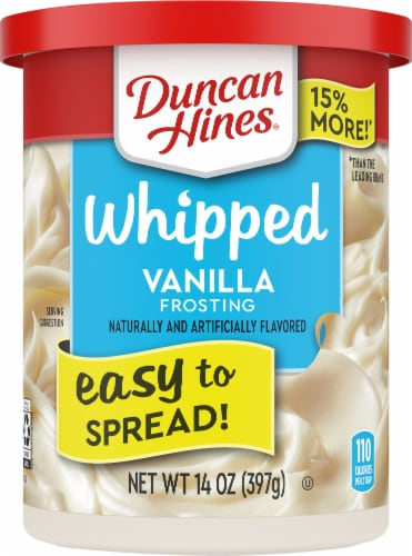 Duncan Hines Whipped Vanilla Frosting Perspective: front