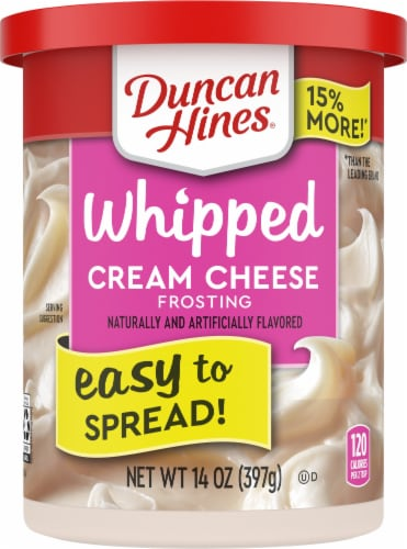 Duncan Hines Whipped Cream Cheese Frosting Perspective: front
